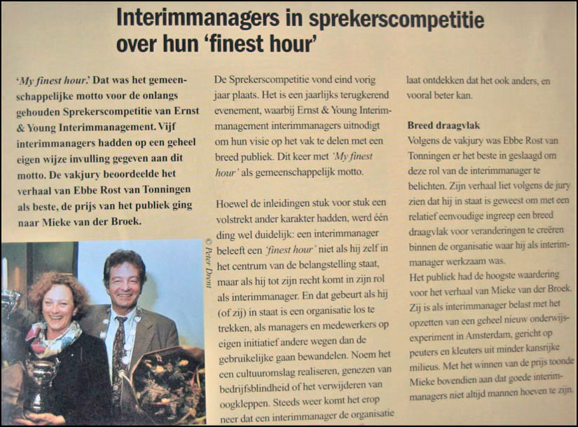 Ernst & Young sprekerscompetitie